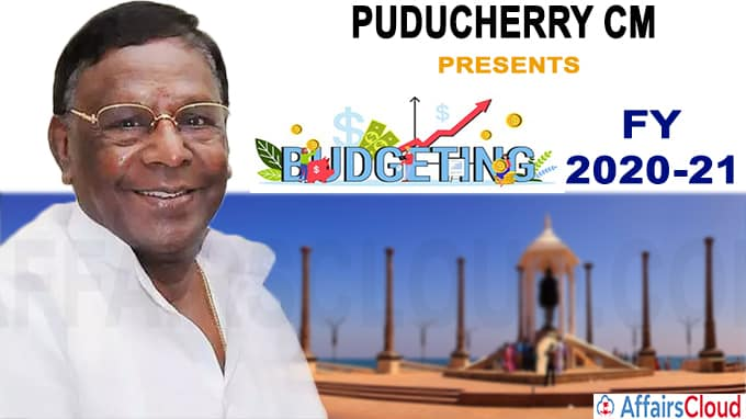 Puducherry CM presents Rs 9000 crore tax free budget for FY 2020-21