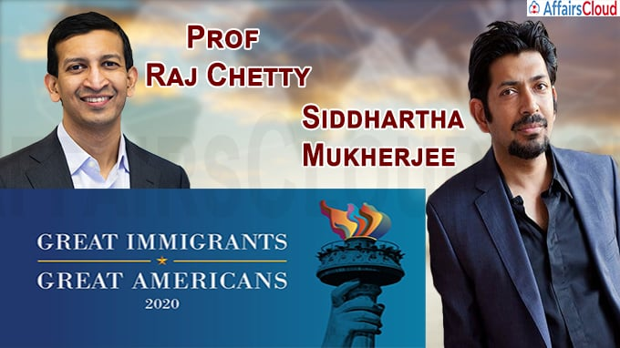 Pulitzer winner Siddhartha Mukherjee, Prof Raj Chetty among '2020 Great Immigrants' honourees
