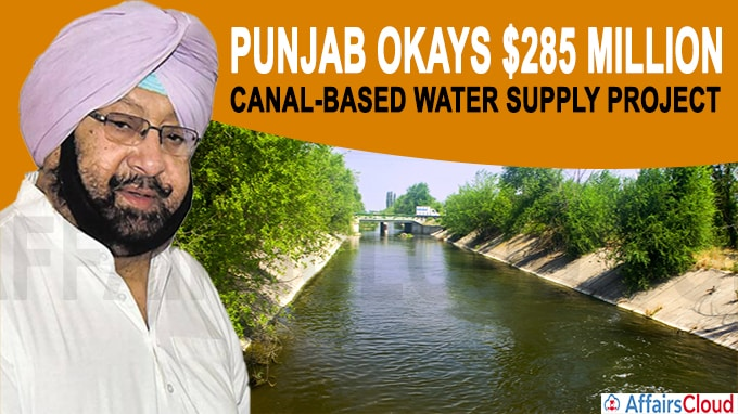 Punjab okays $285 million canal-based water supply project