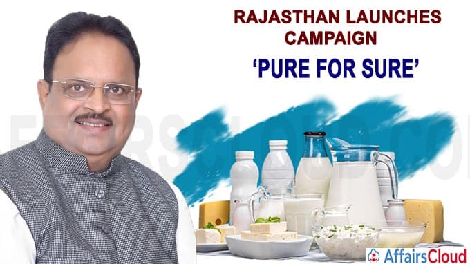 Rajasthan launches campaign Pure for Sure
