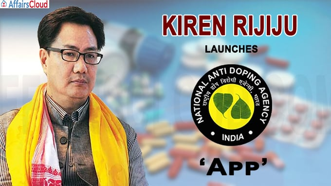 Rijiju launches NADA app