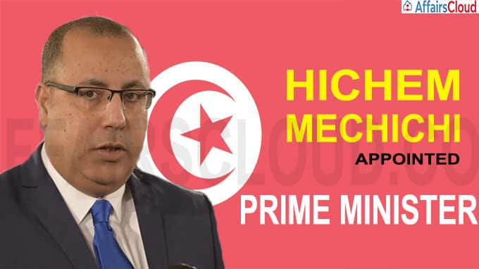 Tunisia appoints interior minister Mechichi as the new prime minister