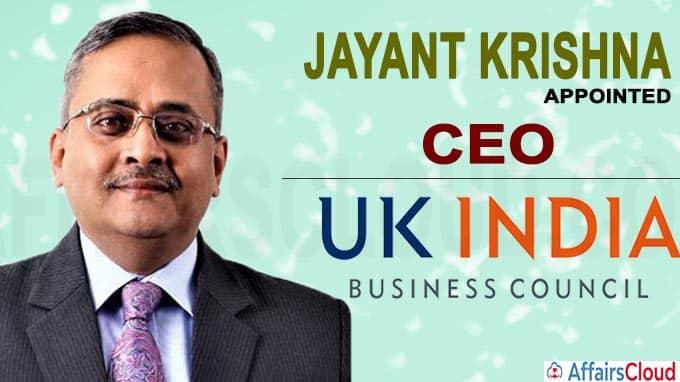 UKIBC appoints Jayant Krishna