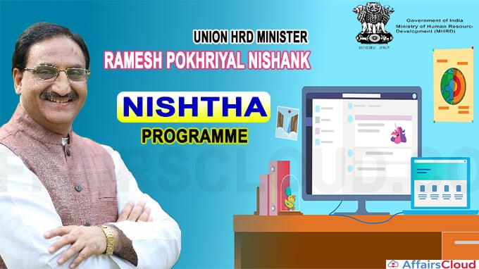 Union HRD Minister and Minister of State for HRD jointly launch the first on-line NISHTHA programme for 1200 Key Resources Persons of Andhra Pradesh