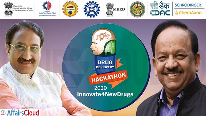 Union HRD Minister and Union Health Minister jointly launches Drug Discovery Hackathon 2020