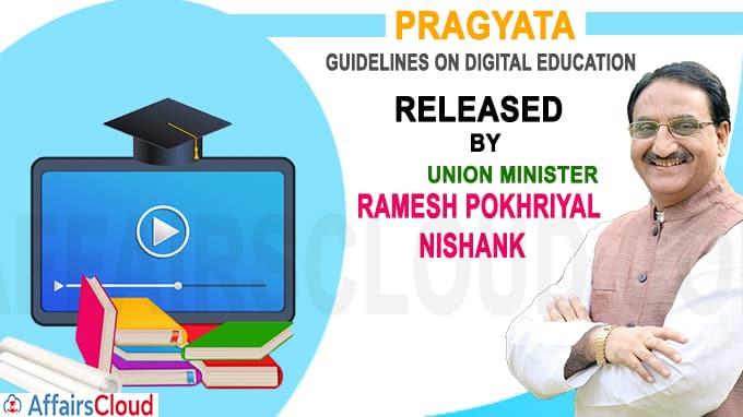 Union HRD Minister virtually releases PRAGYATA