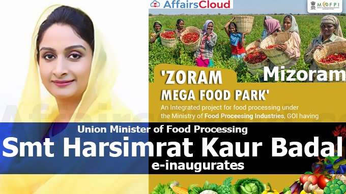 Union-Minister-of-Food-Processing-Smt-Harsimrat-Kaur-Badal-e-inaugurates-Zoram-Mega-Food-Park-in-Mizoram