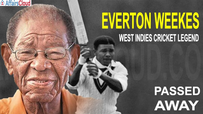 West Indies cricket legend Everton Weekes dies
