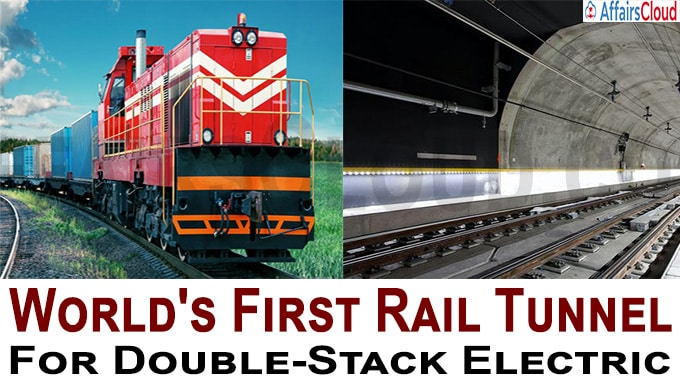 World's first electrified rail tunnel fit to run double-stack containers to be operational