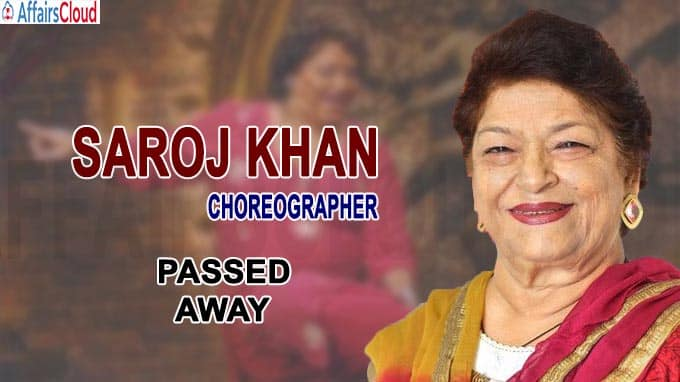 choreographer Saroj Khan passes away