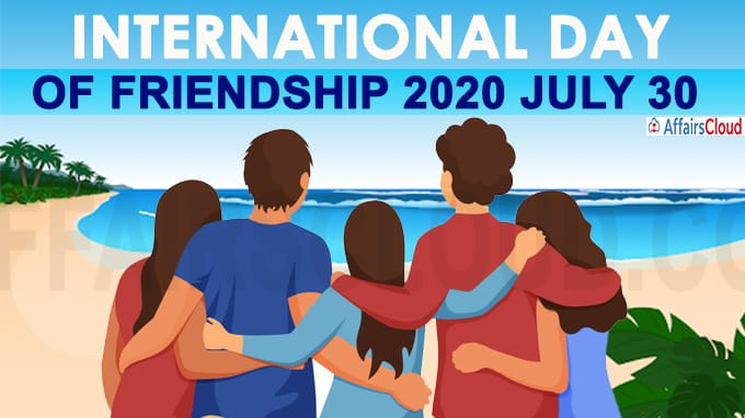 international friendship day 30 july 2020