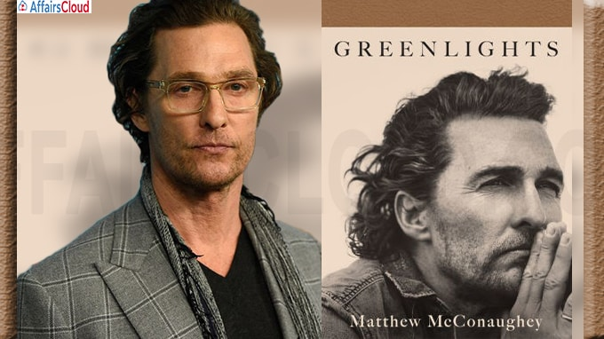 A book titled 'Greenlights' authored by Oscar-winner Matthew McConaughey