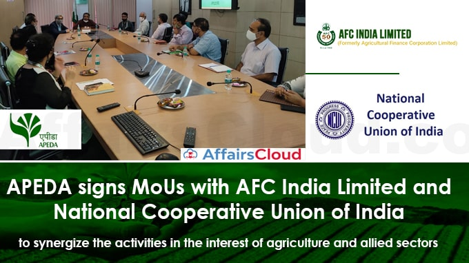APEDA-signs-MoUs-with-AFC-India-Limited-and-National-Cooperative-Union-of-India