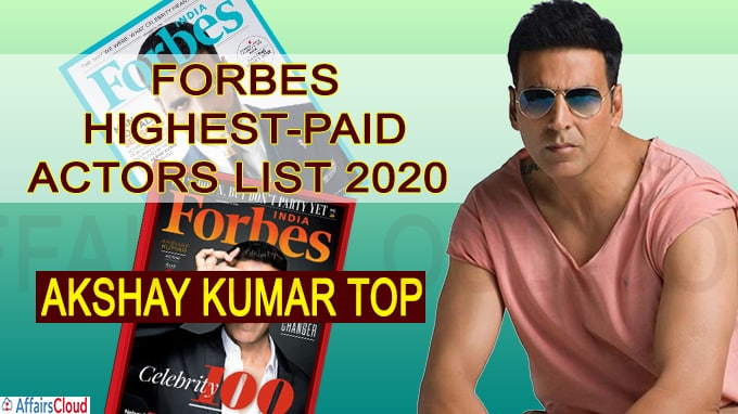 Akshay Kumar features in top 10 of Forbes