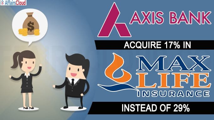 Axis Bank to acquire in Max Life Insurance