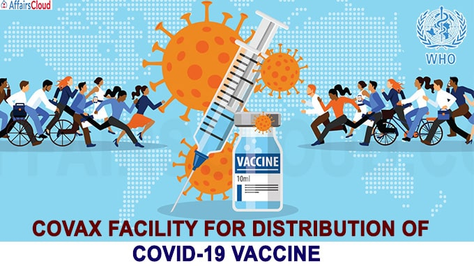 COVAX facility for distribution of Covid-19 vaccine