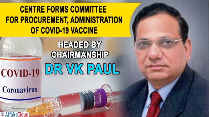 COVID-19 vaccine headed by chairmanship of Dr VK Paul