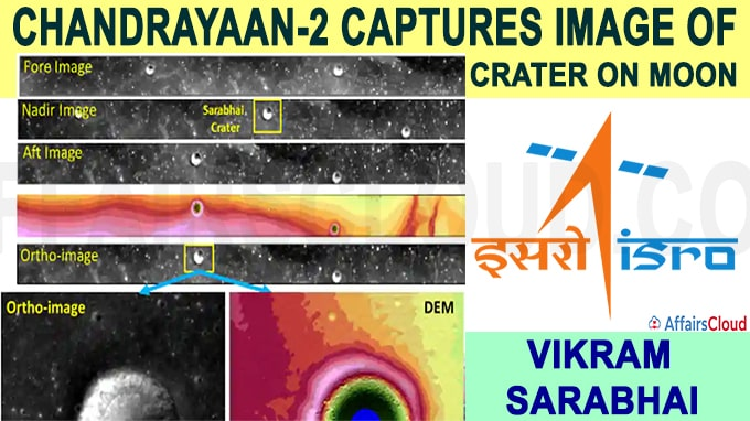 Chandrayaan-2 captures image of crater on Moon