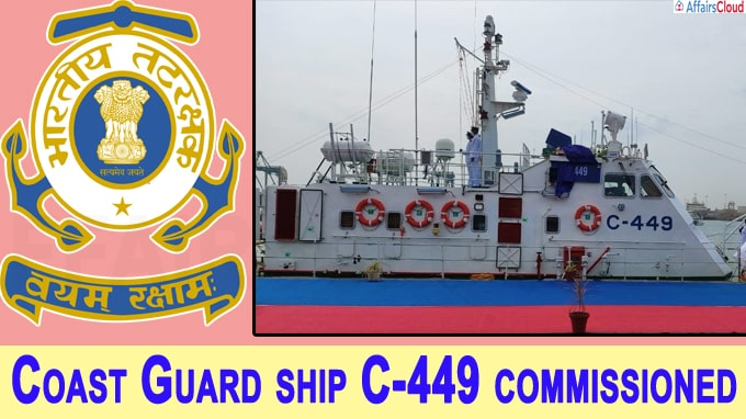 Coast Guard ship C-449 commissioned