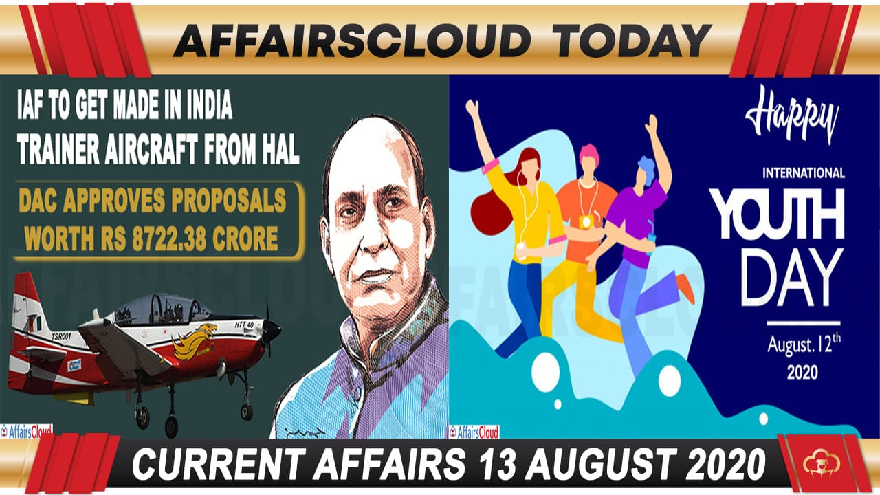 Current Affairs August 13 2020