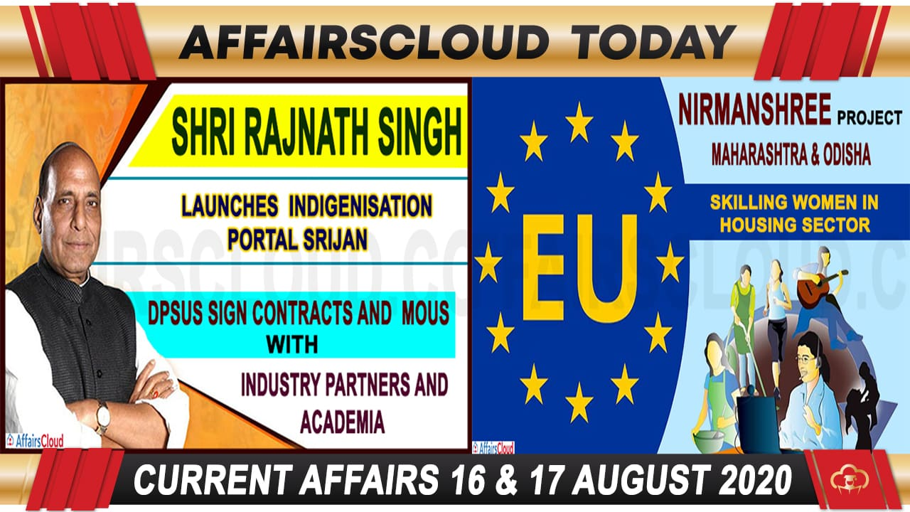 Current Affairs August 16 & 17 2020 new
