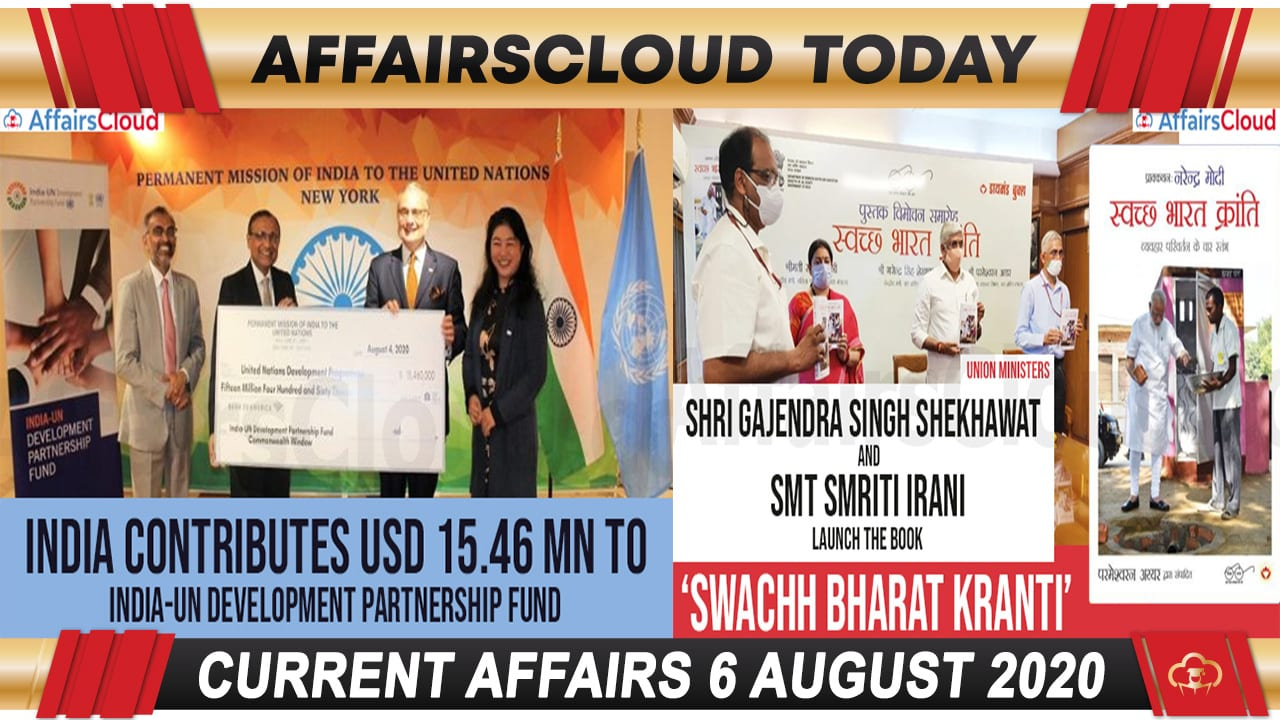 Current Affairs August 6 2020