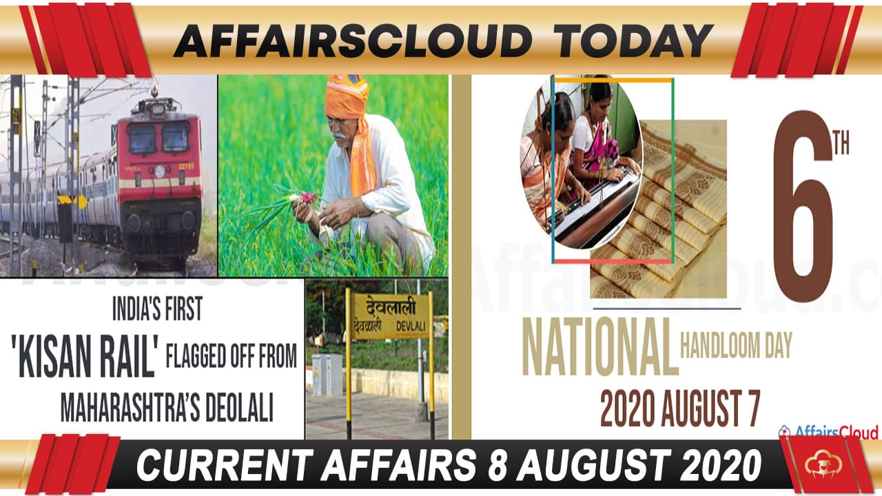 Current Affairs August 8 2020