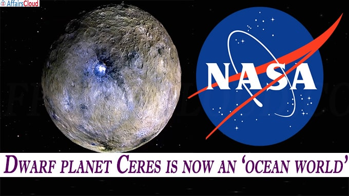 Dwarf planet Ceres is now an ocean world