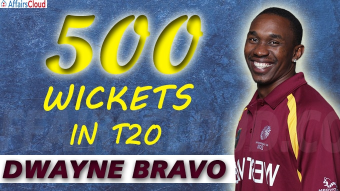 Dwayne Bravo becomes first bowler to scalp 500 wickets
