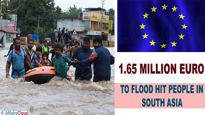 EU to give 1-65 million euro to flood hit people