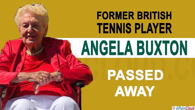 Former British Tennis player Angela Buxton