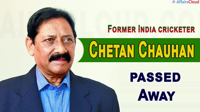 Former India cricketer Chetan Chauhan passes away due to Covid-19