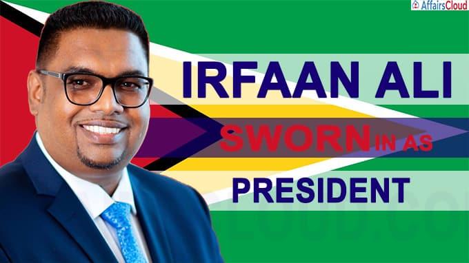 Guyana's Irfaan Ali sworn in as president