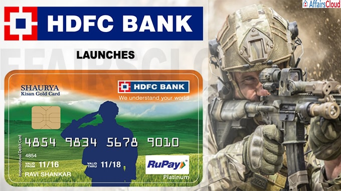 HDFC Bank launches first-of-its-kind card Shaurya KGC Card