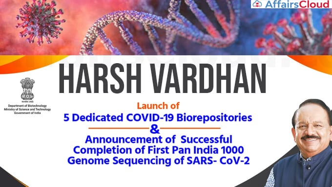 Harsh-Vardhan-announces-the-successful-completion-of-first-Pan-India-1000-Genome-sequencing-of-SARS--CoV-2