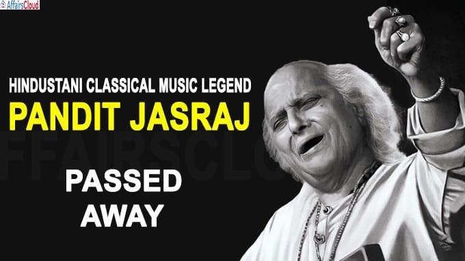 Hindustani classical music legend Pandit Jasraj