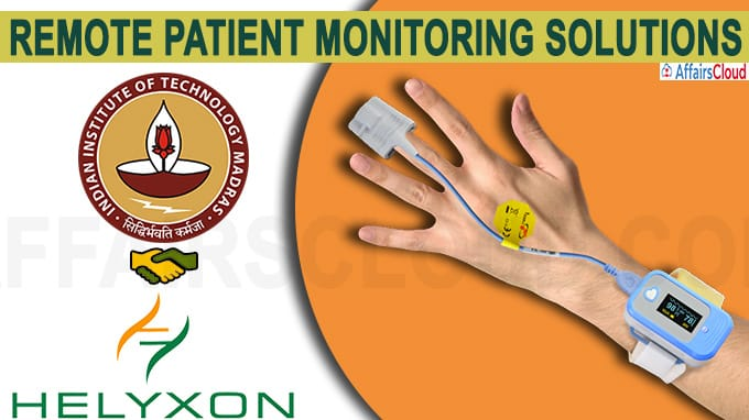 IIT Madras ties up with Helyxon to develop remote patient monitoring solutions