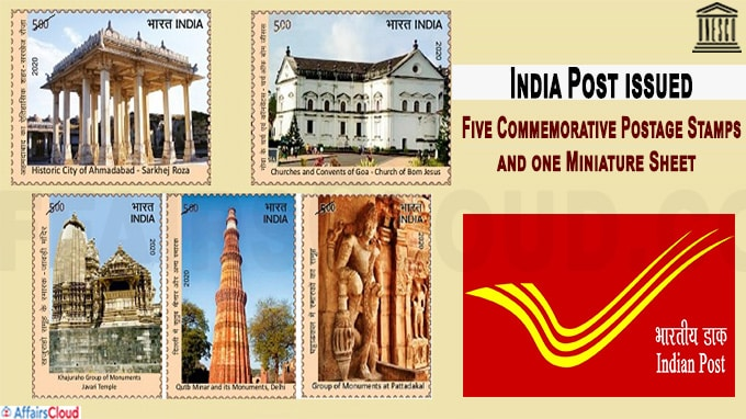 India Post issued five Commemorative Postage Stamps
