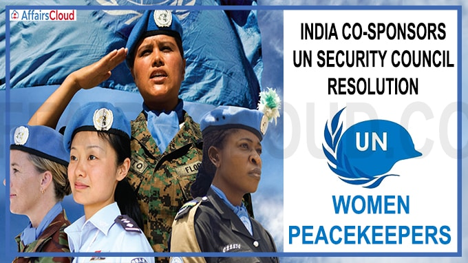 India co-sponsors UN security council