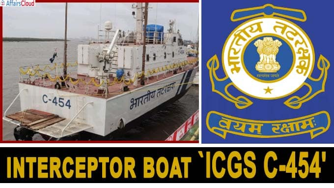 Indian Coast Guard launches interceptor boat `ICGS C-454' in Surat