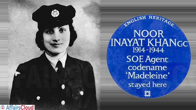 Indian heritage WWII spy Noor Inayat Khan