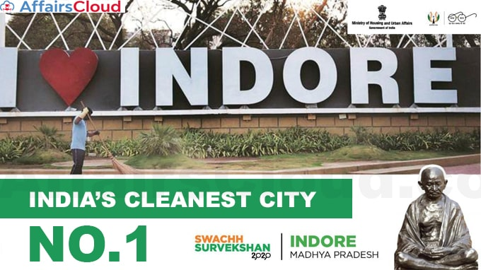 Indore-Creates-Record-by-Winning-Title-of-Cleanest-City-Fourth-Time-in-A-Row-Swachh-Survekshan-2020