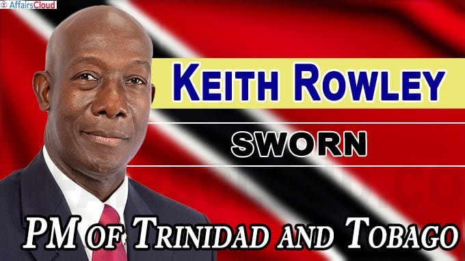 Keith Rowley sworn in as Prime Minister of Trinidad and Tobag