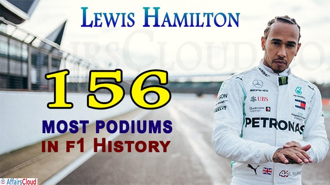 Lewis Hamilton claims record 156th podium finish
