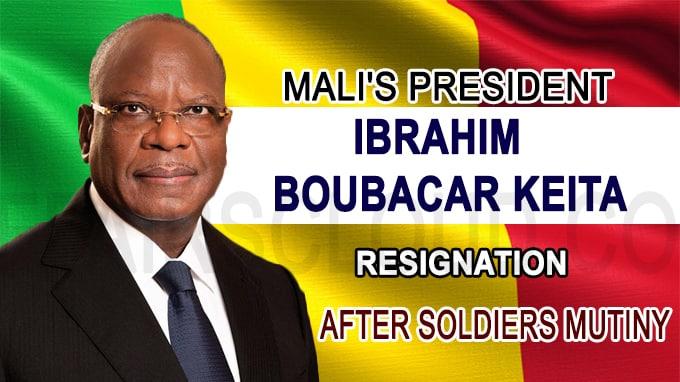 Mali's President Ibrahim Boubacar Keita announces resignation