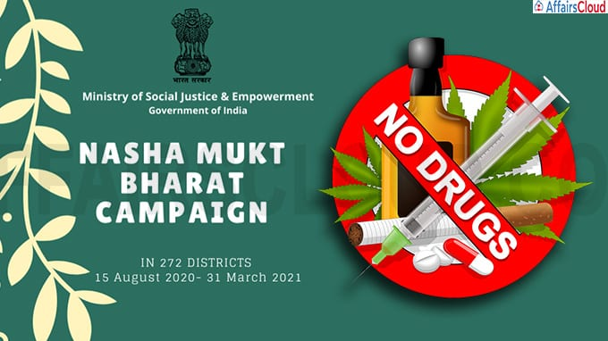 Ministry of Social Justice and Empowerment launches Nasha-Mukt Bharat