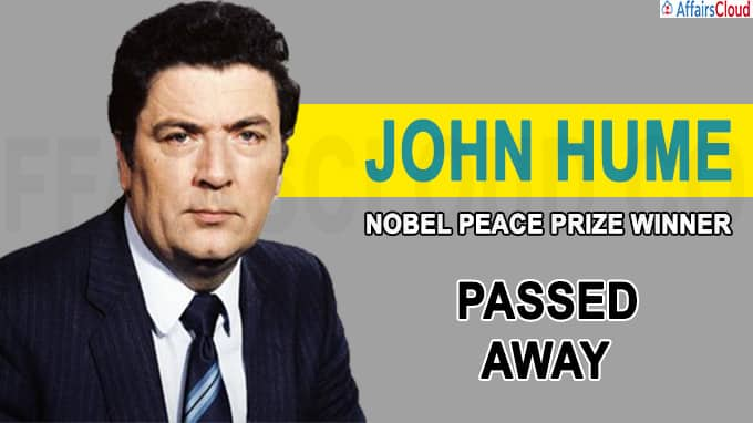 Nobel Peace Prize winner John Hume dies at 83