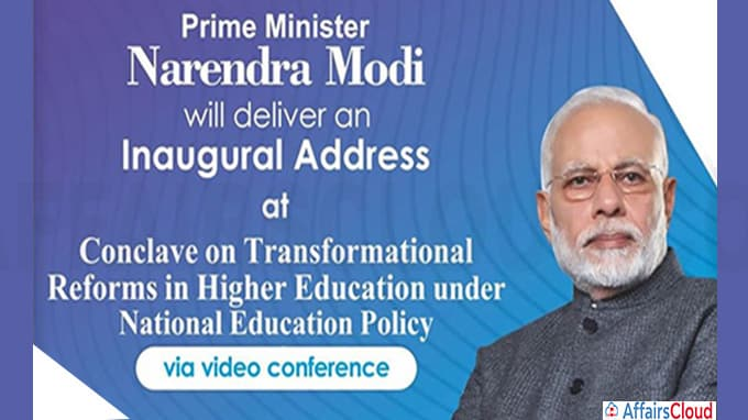 PM Modi virtually addresses Conclave on under National Education Policy