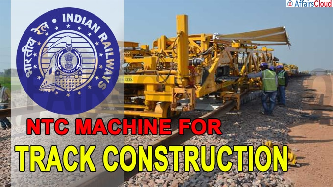 Railways Uses NTC Machine For Track Construction