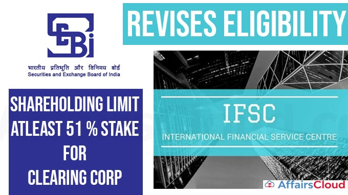 Sebi-revises-eligibility,-shareholding-limit-for-clearing-corp-at-IFSC